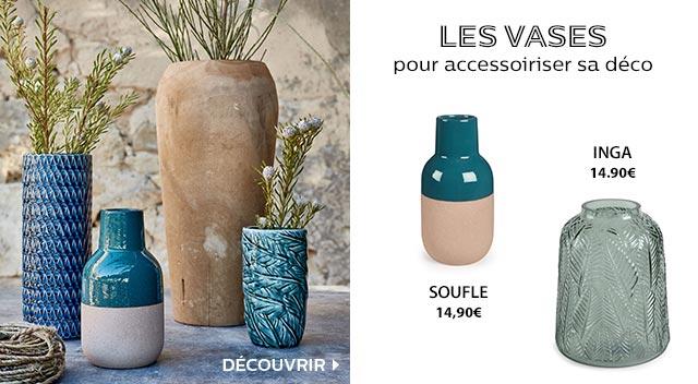 Les vases pour accessoiriser votre déco