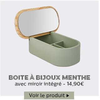 Boite à bijoux Menthe
