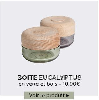 Boites en verre et bois Eucalyptus
