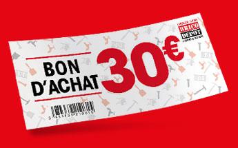 Bon d'achat de 30 euros