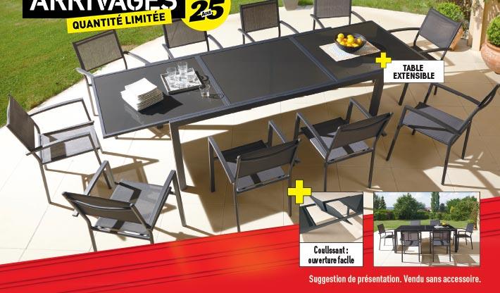 Table aluminium extensible