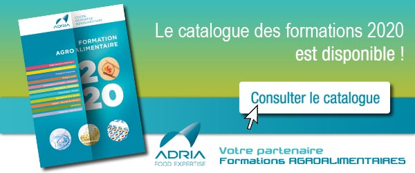 Catalogue formations agroalimentaire ADRIA 2020